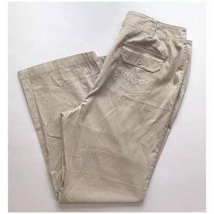 Charter Club Ladies Pants Plus Sz 16 Khaki NWT